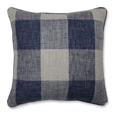 Pillow Perfect Indoor Check Please Lakeland Blue 18-inch Throw Pillow
