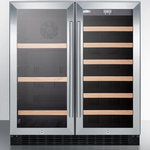 """Summit - Summit 30"""" Dual Temperature Zone Beverage Center with 3 Adjustable Wire Shelves - The 30 French Door Beverage Center from Summit will be the best addition to your place The unit features 3 wire shelves that are adjustable for your storage preference The dual temperature zones allow you to store wine or other beverages at the ideal... - For more details contact us."""