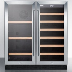 "Summit Lamp Corp. - 30"" Built-in Dual-Zone Wine and Beverage Center - Beer and Wine Refrigerators"