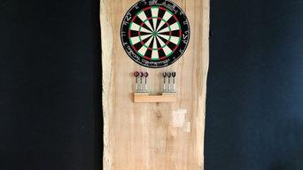 Custom Maple Slab Dartboard Commission