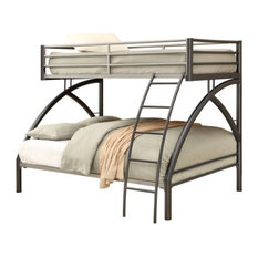 Twin over Full Bunk Bed Gunmetal