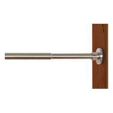 """Versailles 3/4"""" Duo Tension Rod, Indoor/Outdoor, Brushed Nickel, 28/48"""""""