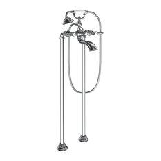 Moen Weymouth 2-Handle Tub Filler Includes Hand Shower, Chrome