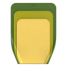 Joseph Joseph Nest Chop Chopping Boards, Plastic, Green, 3-Piece Set