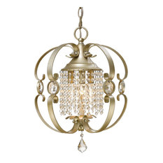 Golden Ella Mini Chandelier 1323-M3 WG, White Gold