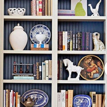 How to arrange bookshelves. How to display collectibles.