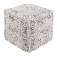 Daveed Ottoman or Stool in White