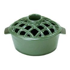 2.2 Qt. Enamel Steamer With Lattice Top, Green