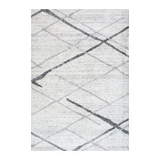 nuLOOM Thigpen Striped Contemporary Area Rug, Gray, 5'x8'