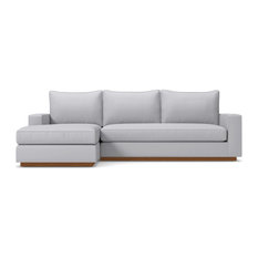 Harper 2-Piece Sectional Sofa, Stone, Chaise on Left