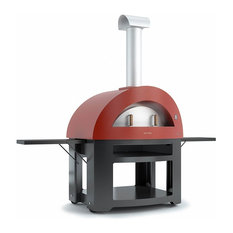 Alfa Allergro Wood Fired Pizza Oven - With Base, Antique Red