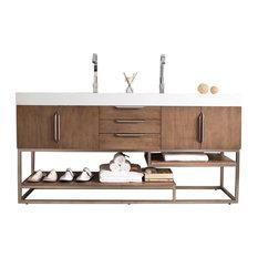 """James Martin Furniture - Columbia 72"""" Double Vanity Latte Oak - Bathroom Vanities and Sink Consoles"""