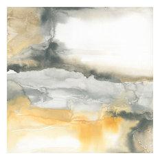 "Minerals I Fine Art Giant Canvas Print, Yellow, Gray, 54""X54"""