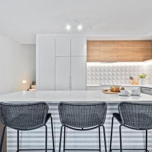 Design ideas for a beach style kitchen in Sunshine Coast.