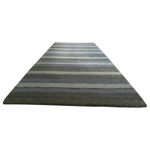 Handloom Multi Stripe Runner, Sage, 80x250 cm