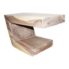 "Haussmann Eco Wood Balance Table 30""x16""x18"", Livos Agate Gray Oil"