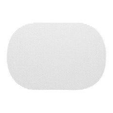Kraftware Fishnet White Oval Placemats, Set of 12