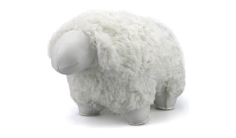 """Nell the Sheep"" Bookend, White"