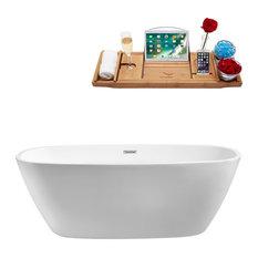 "Streamline 67"" Soaking Freestanding Tub With Internal Drain"