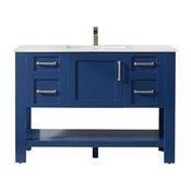 "Grayson Jewelry Blue Bathroom Vanity Set, No Mirror, 48"""