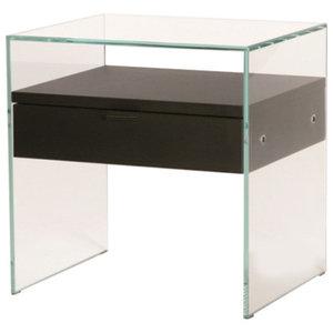 Zen Glass Bedside Table