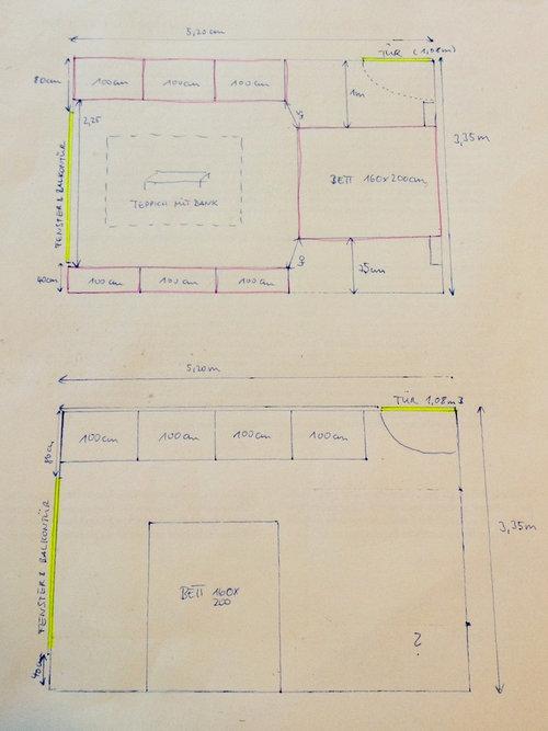 Altbau 18m2 Schlafzimmer Kleiderschrank Unterbringen