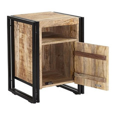 Cosmos Industrial Side Table With Door