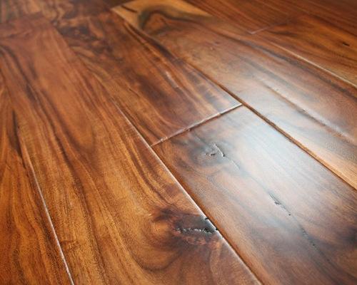Hand Scraped Engineered Hardwood Flooring hand scraped maple amber Acacia Parchment 916 X 4 34 Hand Scraped Engineered Hardwood