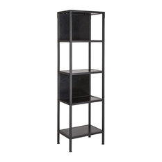 Cumberland Collection Bookshelf With-Drawer And Shelves Rustic