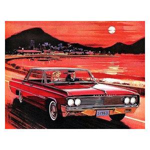 1963 Oldsmobile 98 Luxury Sedan Promotional Advertising Poster