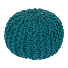 Surya Fargo Contemporary Woolen Sphere Pouf