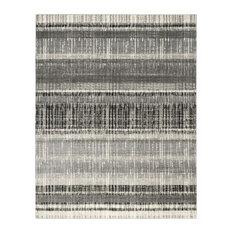 Ajan Transitional Area Rug, Cream and Dark Grey, 245x305 cm