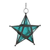 Glass Star Lantern, Blue