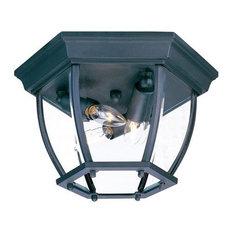 "Acclaim Lighting 5602 3 Light 11""W Outdoor Flushmount Ceiling - Black"