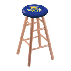 Oak Bar Stool Natural Finish With Marquette University Seat 30-inch