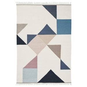 Linie Design Memo Rug, Blue, 140x200 cm