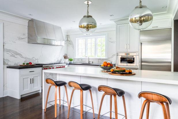 Transitional Kitchen by Alisberg Parker