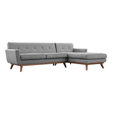 GRIFFON RIGHT-FACING SECTIONAL SOFA/EXPECTATION GRAY