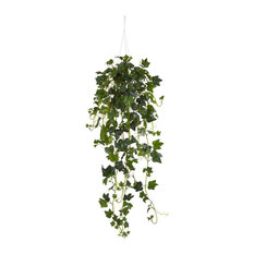 Nearly Natural Home Decorative English Ivy Hanging Basket Artificial Plant