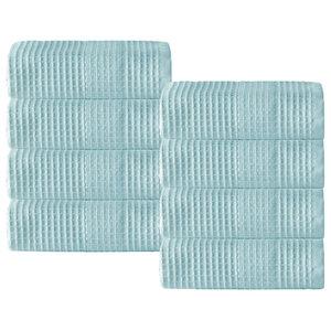 Enchante Home Ria Wash Towel Set, Set Of 8, Aqua