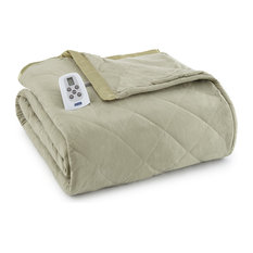Micro Flannel Electric Heated Comforter, Meadow, Twin