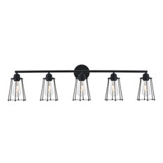 "Elegant Lighting LD4047W42 Auspice 5 Light 42""W Bathroom Vanity - Black"