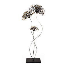 Dandelion's Dance Metal Sculpture Original Artwork