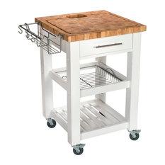 "Chris & Chris - Pro Chef Food Prep Station, 23.63"" L - Kitchen Islands and Kitchen Carts"