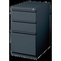 Hirsh 20-inch Deep Mobile Pedestal File 3-Drawer Box/Box/File. Charcoal