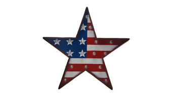 Patriotic Marquee Led Lighted Star Sign Wall Decor