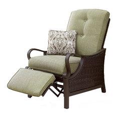 Hanover - Ventura Outdoor Luxury Recliner, Vintage Meadow - Recliner Chairs