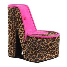 """9"""" Cheetah Print High Heel Shoe Hiddden Jewelry Box"""