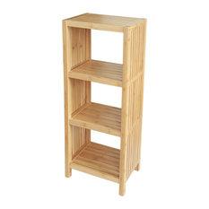 Deluxe Bamboo Freestanding Organizing Shelf, 4-Tier