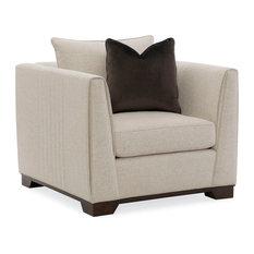 Modern Streamline Plinthe Base Club Chair